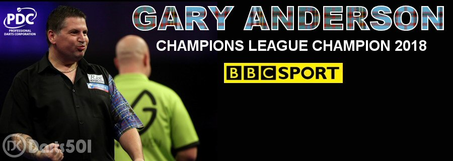 Gary Anderson Champions League Champion 2018