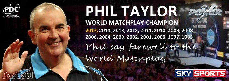 Phil Taylor say farewell to the World Matchplay Blackpool
