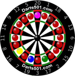 graphic relating to Printable Dart Board named Dartboard Game titles