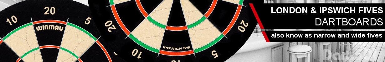 Fives Dartboard London Ipswich Fives Narrow Wide Fives